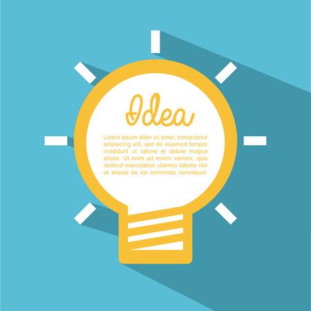 mental object: think design over blue background vector illustration