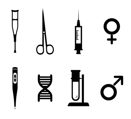 womna: medical dsign over white  background vector illustration   Illustration