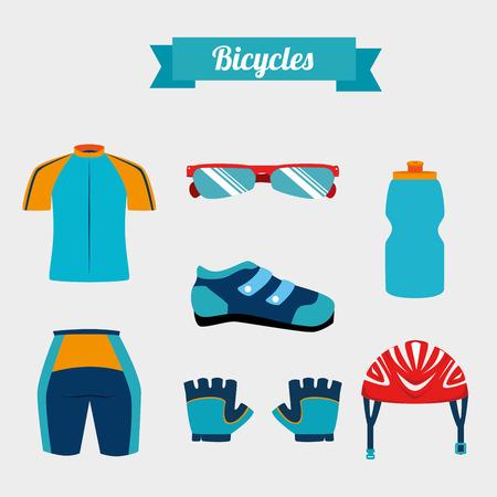 biking glove: cycling  design over white  background vector illustration   Illustration