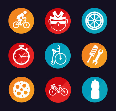 cycling  design over black  background vector illustration   Vector