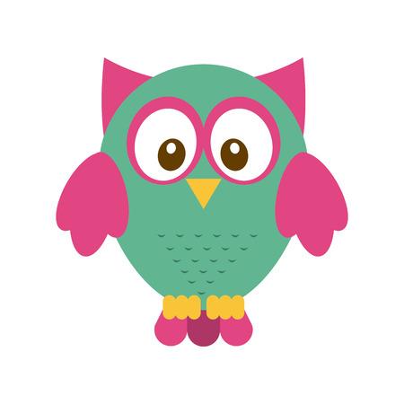 owl design over  white background vector illustration Vector