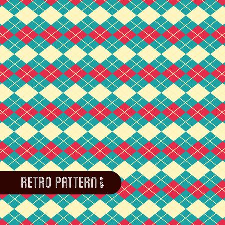 pattern design over cream background  Illustration