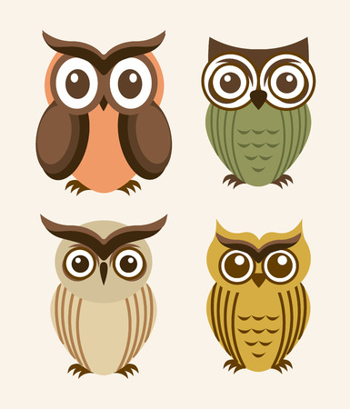 owl design over  white background