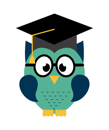owl design over white  background  Vector