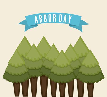 arbor: arbor day over  white background