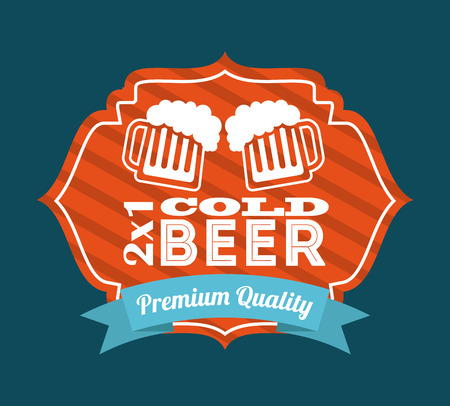 beer design over  blue  background  Vector