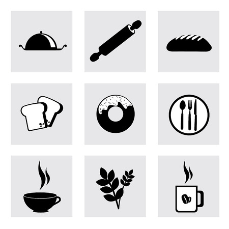breakfast design  over white  background vector illustration   Vector