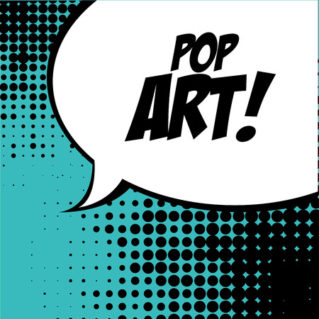 pop art   over   blue background vector illustration Stock Vector - 26379589
