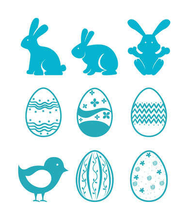happy easter over  white   background vector illustration Vector