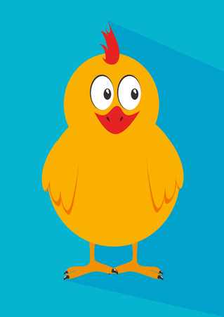 chicken design over blue   background, vector illustration  Vector