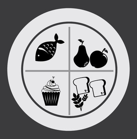 breakfast design  over gray  background vector illustration   Vector