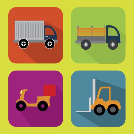 article marketing: delivery design over  green background vector illustration Illustration