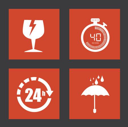 all weather: delivery design over black  background vector illustration Illustration