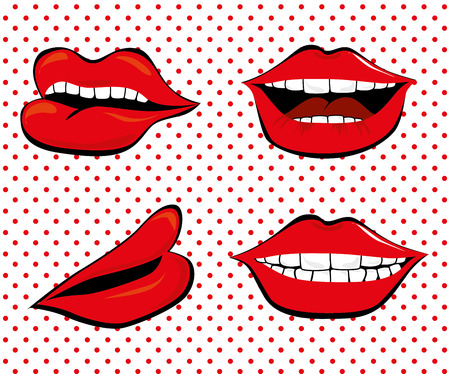 pop art   over dotted   background vector illustration Vector