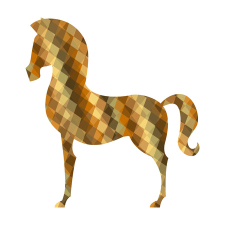 horse design over white background illustration Vector