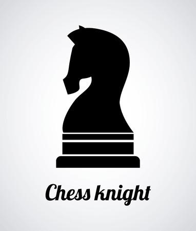 Chess horse design over white background illustration Vector