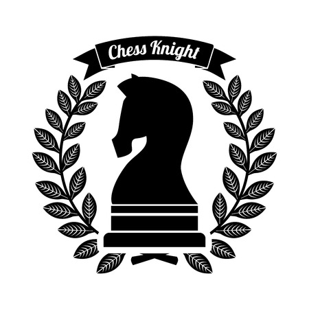 Chess horse design over white background illustration Vector