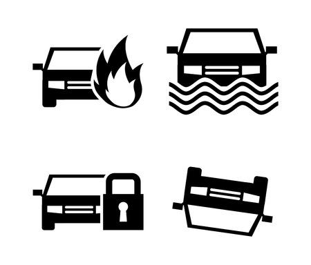 Car insurance design over white background illustration Vector