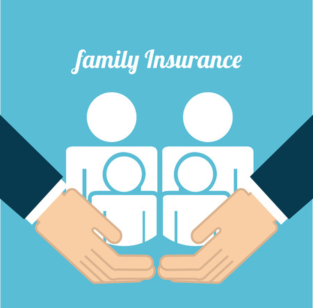 mishap: insurance design over  blue background vector illustration