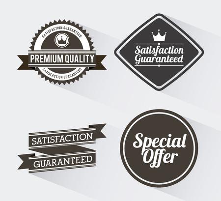shopping labels design over white background illustration Vector