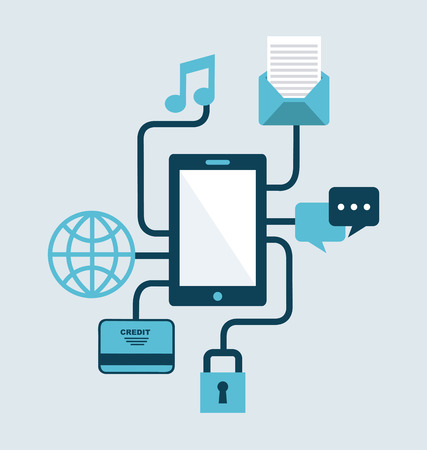 Phone connectivity background illustration Vector