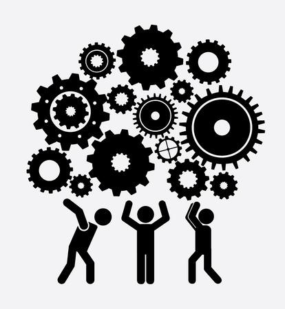 teamwork design over gray background vector illustration
