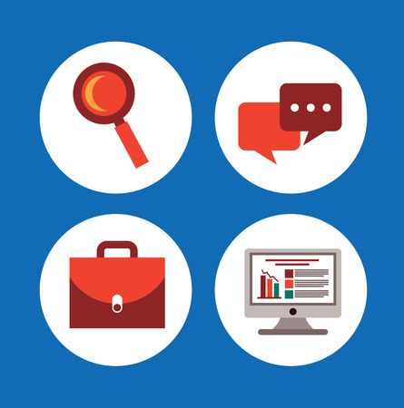 statics: office design over blue background vector illustration