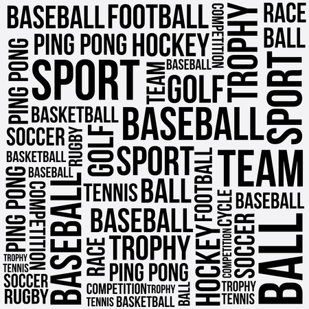 sports words design over white background vector illustration   Vector