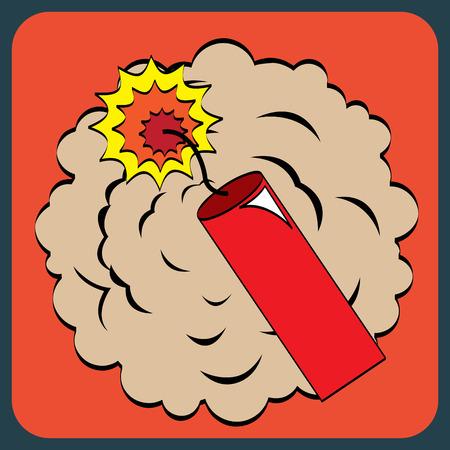 nuke: pop art design over red background vector illustration