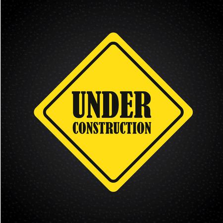 under construction design over black background vector illustration Vector