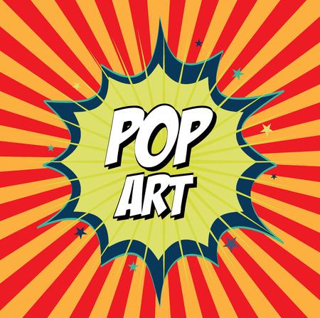 pop art design  over colorful background vector illustration Stock Vector - 26412023
