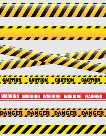 Vorsicht Design auf weißem Hintergrund Vektor-Illustration