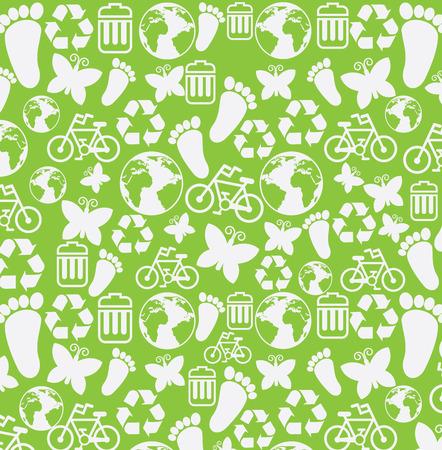enviromental: ecology design over green background vector illustration Illustration