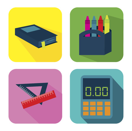 education tools over white background vector illustration