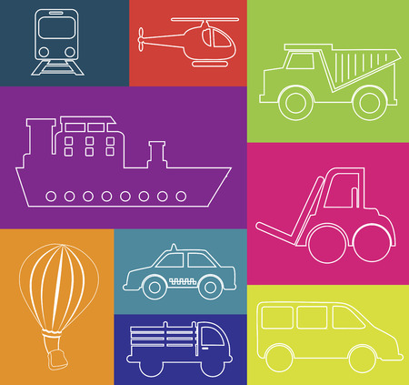 didactic: didactic transport graphic design over  colorful background vector illustration