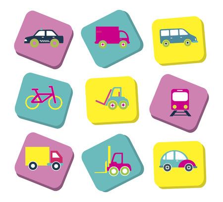 didactic: transport  cards design over background vector illustration Illustration