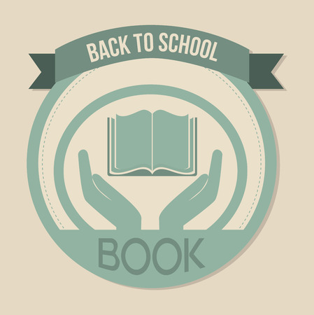 bibliography: book icon icon over a white background vector illustration