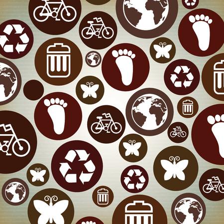 enviromental: ecology design over gray background vector illustration