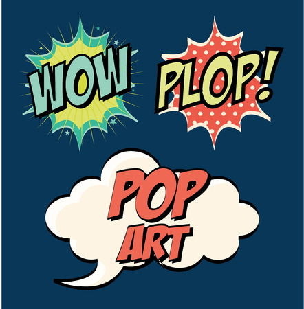 pop art design  over blue background vector illustration Vector