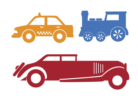 Vehicles over a white background vector illustration Vector