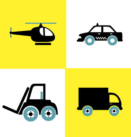 transport vehicles flat design over colorful background vector illustration Vector