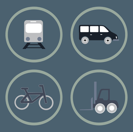 transport draw bottoms over gray background vector illustration Vector