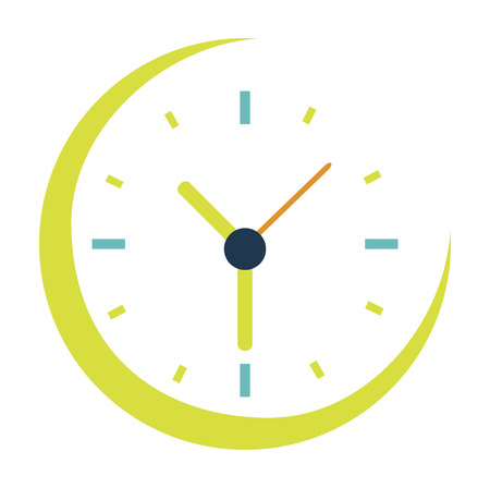 time watch over  background white vector illustration