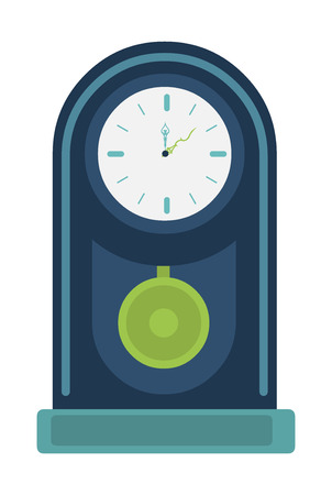 classic clock over white background vector illustration Vector