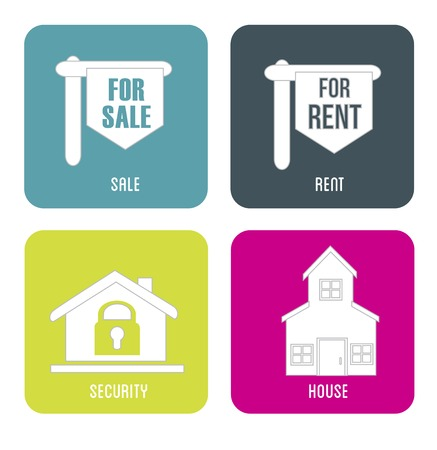 real estate sales rent  over gray background vector illustration Vector