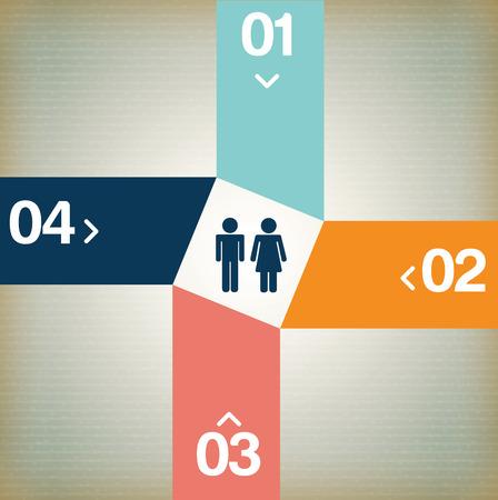 determinants: infographics design over beige  background vector illustration