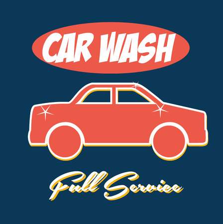 car wash over blue background vector illustration  Vector