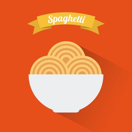 menu design over  orange  background vector illustration