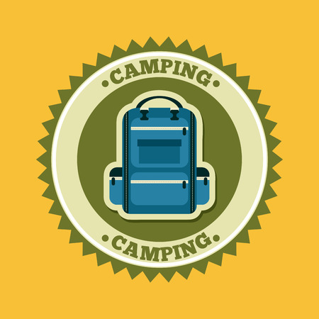 camping design over yellow background vector illustration Vector