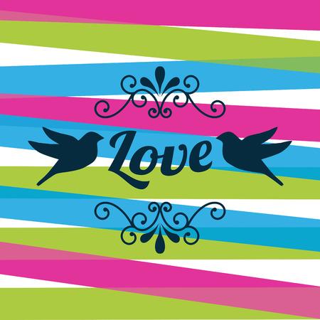 love design over   white background vector illustration   Illustration